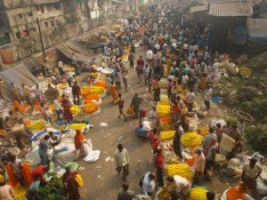 Mullik Ghat flower market, Calcutta