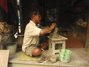 Potters' Quarter in Kumortuli, Calcutta