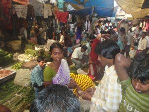 Mullik Ghat flower market. Calcutta