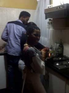 Chidinma prepares a bit of goat